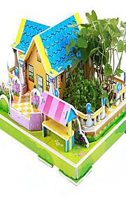 puslespil 3D-puslespil Pædagogisk legetøj Byggesten Gør Det Selv Legetøj Hus Papir Model- og byggelegetøj