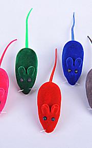 Kattleksak Hundleksak Husdjursleksaker Musleksak gnissla Mus Slumpmässig färg Silikon