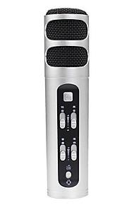no Com Fios Microfone de Karaoke 3.5mm Prateado