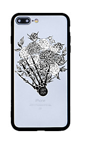 För Mönster fodral Skal fodral Blomma Hårt Akrylfiber för Apple iPhone 7 Plus iPhone 7 iPhone 6s Plus/6 Plus iPhone 6s/6 iPhone SE/5s/5