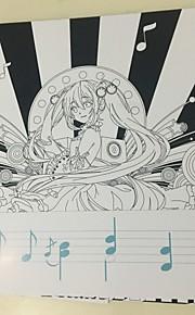 Vocaloid Miku Rin Ren Coloring Book