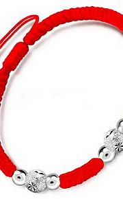 Armbånd Kæde & Lænkearmbånd Sølv Nylon Blomstformet Andre Mode Fødselsdag Julegaver Smykker Gave Gylden Rød,1 Stk.