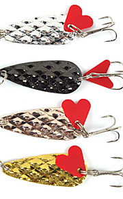 4 pcs Hard Bait Random Colors 0.006 g Ounce mm inch,Metal General Fishing