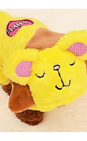Perros Abrigos Amarillo Rosado Ropa para Perro Invierno Caricaturas Adorable