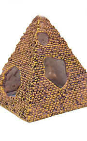 Aquarium Decoration Pyramid Ornament Non-toxic & Tasteless Resin