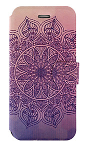 For iPhone 7Plus 7 PU Leather Material Datura Flowers Pattern Painted Phone Case 6s Plus 6Plus 6S 6 SE 5s 5