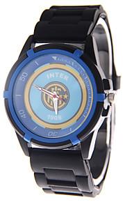 Unissex Relógio Esportivo Relógio de Moda Quartzo Borracha Banda Preta Branco Azul marca