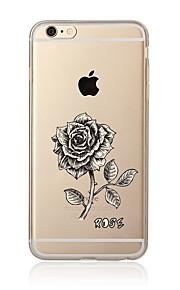 För Genomskinlig Mönster fodral Skal fodral Blomma Mjukt TPU för AppleiPhone 7 Plus iPhone 7 iPhone 6s Plus/6 Plus iPhone 6s/6 iPhone