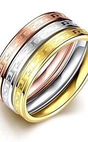 Ringe Halloween Daglig Afslappet Smykker Titanium Stål Ring 1 Stk.,6 7 8 9 Multifarvet