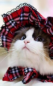 Cat Dog Coat Dog Clothes Spring/Fall Plaid/Check Cute Sports Black Red