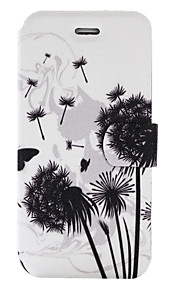 For iPhone 7Plus 7 PU Leather Material Dandelion Pattern Painted Phone Case 6s Plus 6Plus 6S 6 SE 5s 5