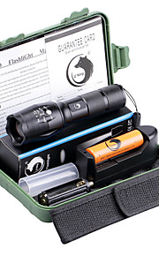 U'King ZQ-X1077R-EU G7000 5Modes Zoomable Multifunction Flashlight Torch Kit Red Light