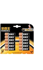 Duracell AA alkaliskt batteri 1.5V för blodtrycksmätare / blodsockermätare / elektriska leksaker 12 förpackningar