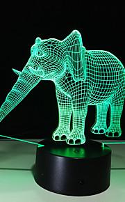 3d personalidad creativa colorido toque llevó luz de noche