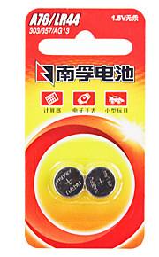 Nanfu ag13 coin knoopcel alkaline batterij 1.5V 140mAh 2 stuks