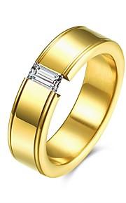 Ringe Halloween Daglig Afslappet Smykker Titanium Stål Ring 1 Stk.,7 8 9 10 Gul Guld