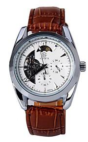 Masculino Relógio de Moda relógio mecânico Automático - da corda automáticamente Calendário PU Banda Legal Casual Preta MarromPreto