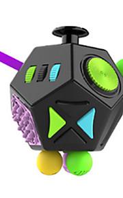Brinquedos Cubo Macio de Velocidade Cube Fidget Novidades Alivia Estresse Cubos Mágicos Arco-Íris Preta Plástico