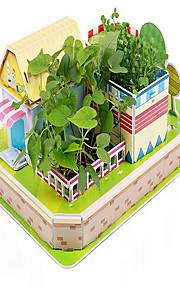 puslespil 3D-puslespil Pædagogisk legetøj Byggesten Gør Det Selv Legetøj Hus 1 Papir Regnbue Model- og byggelegetøj