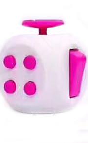 Brinquedos Cubo Macio de Velocidade Cube Fidget Novidades Alivia Estresse Cubos Mágicos Branco Plástico