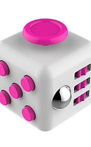 Brinquedos velocidade lisa cubo novidade stress relievers cubo mágico vermelho cinza / plástico