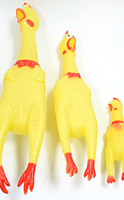 Creative Fashion yellow Screaming Chicken Pet Dog Toys Squeak Squeaker Chew Pet Christmas Gift S  Size