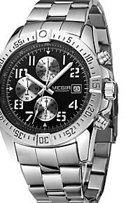 Relógio de Moda Quartzo Aço Inoxidável Banda Pendente Casual Preta Prata marca