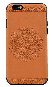 Para En Relieve Diseños Funda Cubierta Trasera Funda Mandala Suave Cuero Sintético para AppleiPhone 7 Plus iPhone 7 iPhone 6s Plus iPhone