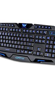 3 color retroiluminada de juego conmutable ordenador portátil USB con cable de retroiluminación LED teclado gamer