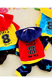 Собаки Плащи Несколько цветов Одежда для собак Зима Однотонный На каждый день Спорт