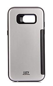 Per Porta-carte di credito Custodia Custodia posteriore Custodia Tinta unita Resistente PC per Samsung A3 (2017) A5 (2017)