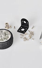 Crab Kingdom® Smart Car Toy Accessories Precision Self Balancing Suite 370 Gear Motor Suit Wheel Motor   Coupling