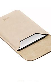 for Apple MacBook Air / pro 13,3 12 11,6 tommers ermene laptop bag PU lær enkel fritid stil bærbare bag ensfarget