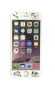 עבור Apple iPhone 6 / 6s 4.7 אינץ זכוכית מחוסמת עם דפוס קריקטורת מגן מסך קדמי כיסוי מסך מלא קצה רך