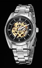Masculino Relógio Elegante Relógio Esqueleto relógio mecânico Automático - da corda automáticamente Aço Inoxidável Banda Pendente Legal
