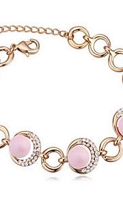 Armbånd Kæde & Lænkearmbånd Perle Cirkelformet Natur Smykker Gave Hvid Gul Blå Grøn Pink,1 Stk.