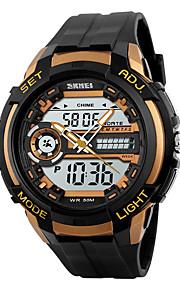 Masculino Mulheres Relógio Esportivo Relógio de Pulso Quartzo Japonês LED Calendário Impermeável Dois Fusos Horários alarme Cronômetro