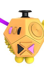 Brinquedos liso velocidade cubo novelty stress relievers cubo mágico preto laranja plástico