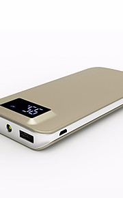 10000mah bärbar lcd qc3.0 power bank mobiltelefon och surfplatta extern batteribackup batteriladdare Dual USB Power för Xiaomi samsung