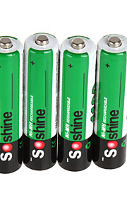 4pcs Soshine / batterie 1100mAh batteria AAA NI-MH contenitore di batteria portatile batteria ricaricabile