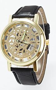 גברים לנשים שעוני ספורט שעוני שמלה שעוני אופנה שעון יד Chinese קווארץ עור אמיתי להקה מזל יום יומי יצירתי צבעוני זהב כסף