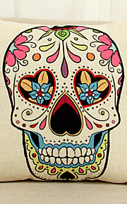 1 Pcs   Skull Pattern  Decorative Pillow Cover