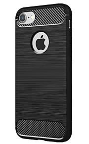 Para Antichoque Capinha Capa Traseira Capinha Cor Única Macia TPU para Apple iPhone 7 Plus iPhone 7 iPhone 6s Plus iPhone 6s