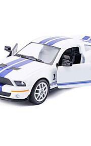 Macchina da corsa Veicoli a molla Giocattoli Car 1:28 ABS Nero Bianco Giallo Modellino e gioco di costruzione