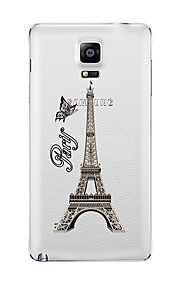 For Samsung Galaxy Note5 Note 4 Pattern Case Back Cover Case Eiffel Tower TPU Samsung  Note 3 Note2