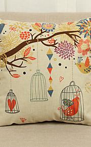 1 pçs Linho Cobertura de Almofada Fronha,Floral Textura Regional Tradicional/Clássico Europei