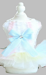 Dog Tuxedo Dress Cotton Dog Suspender Skirt Summer Princess Cute Fashion Birthday Wedding Light Blue Pink