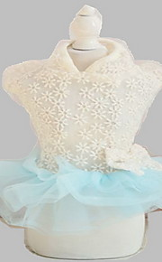 Dog Tuxedo Dress Dog Clothes Summer Princess Cute Fashion Birthday Wedding Light Blue Blushing Pink