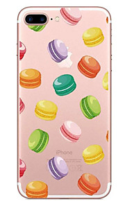 For Apple iPhone 7 7 Plus 6S 6 Plus Case Cover Hamburgers Pattern Painted High Penetration TPU Material Soft Case Phone Case