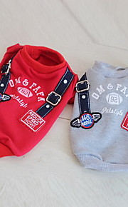 Dog Sweatshirt Dog Clothes Summer Letter & Number Casual/Daily Red Gray